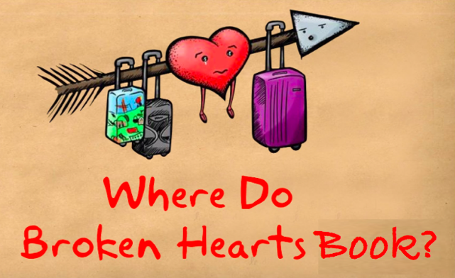 Where do broken hearts BOOK?